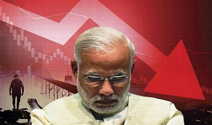 ভারতের অর্থনীতির দুরবস্থা, জিডিপি কমে সাড়ে ৪ শতাংশ