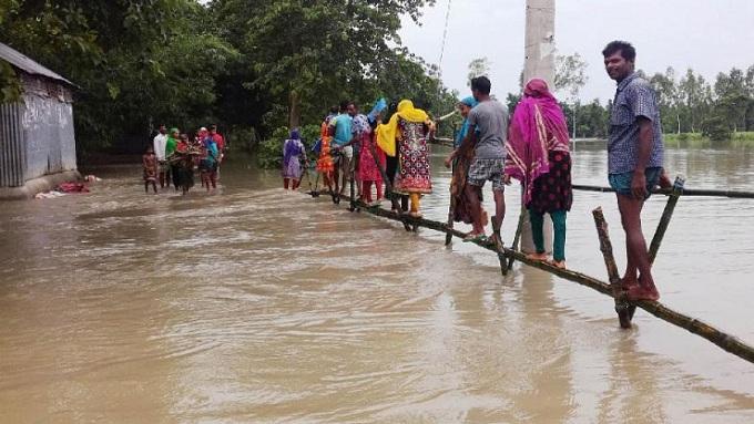 বৃষ্টিপাতের কারণে পাঁচ জেলায় আকস্মিক বন্যার আভাস
