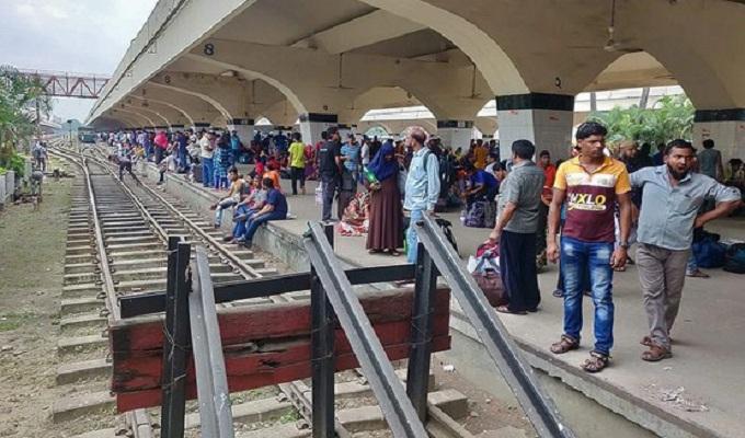 ঢাকার সঙ্গে সারা দেশের রেল যোগাযোগ বন্ধ