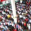 রেলের টিকিট কিনতে কমলাপুরে জনস্রোত