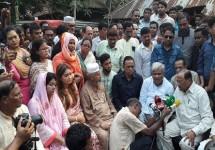 রাফির বাড়িতে বিএনপি প্রতিনিধি দল