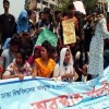 নীলক্ষেতে সাত কলেজ শিক্ষার্থীদের অবরোধ