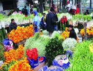রাজধানীতে ফুলের বাজার জমজমাট