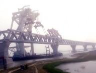 বসল পদ্মা সেতুতে ২৫তম স্প্যান, দৃশ্যমান পৌনে চার কিলোমিটার