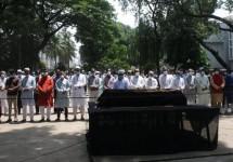 জাতীয় প্রেসক্লাবে সাংবাদিক রাহাত খানের জানাজা সম্পন্ন