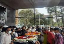 কেন্দ্রীয় শহীদ মিনারে শাহীন রেজা নূরের মরদেহ