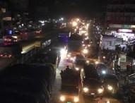 ঢাকা-টাঙ্গাইল-বঙ্গবন্ধু সেতু মহাসড়কে ১৭ কিলোমিটার যানবাহনের চাপ